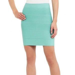 EUC BCBGMaxAzria Mint Green Bodycon Bandage Skirt